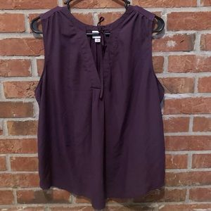 Merona Plum V-neck tie up Sleeveless Tank Top